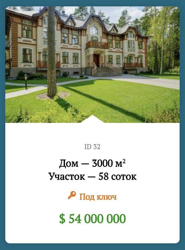 Объявление на продажу в коттеджном поселке Сады Майендорф: 3000 квадратный метров за 54 миллиона долларов