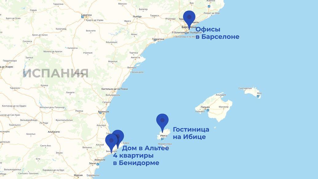 Недвижимость семьи Жириновского в Испании: Барселона, Ибица, Аликанте