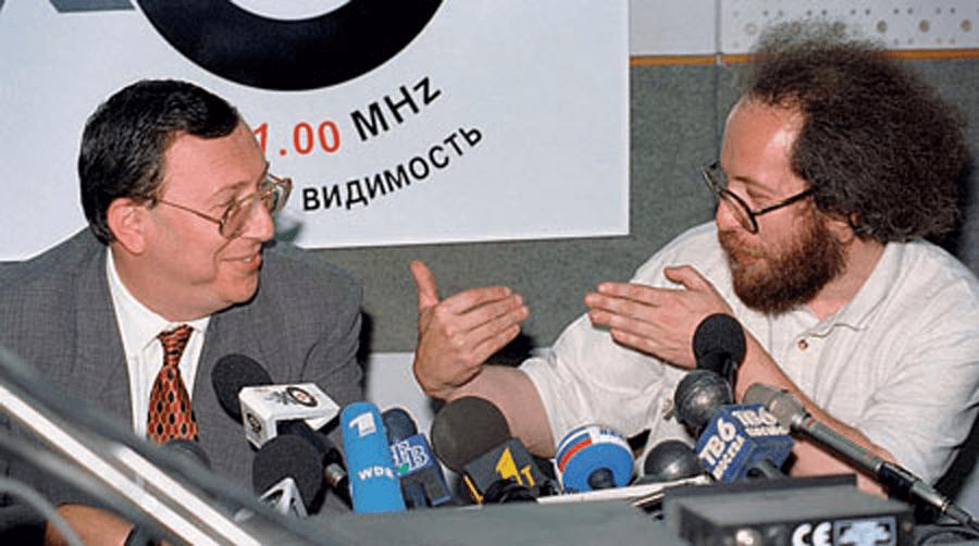 Владимир Гусинский и Алексей Венедиктов
